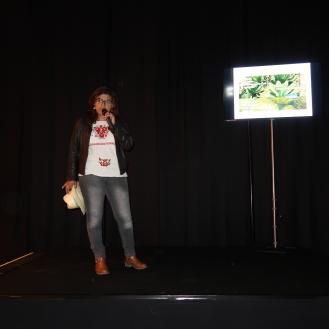 Cynthia Villalobos during her seminar
